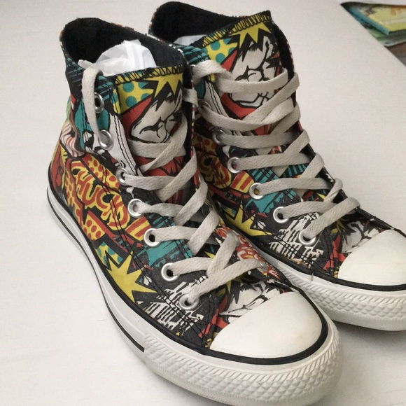 b308c10abb1c Converse Shoes - Converse Comic print high tops